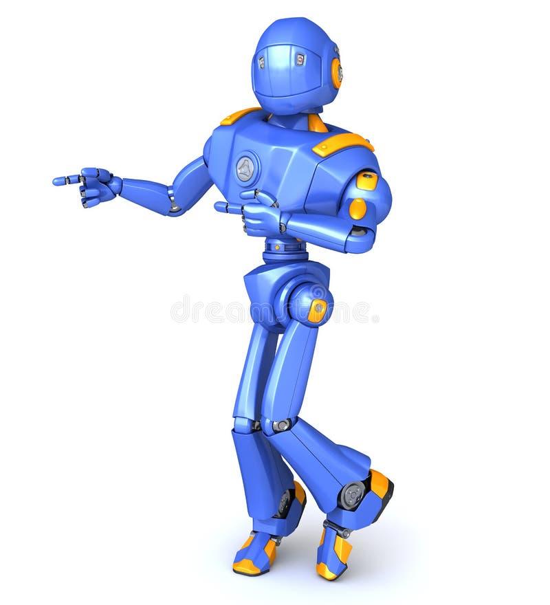 Robot pointing something stock illustration