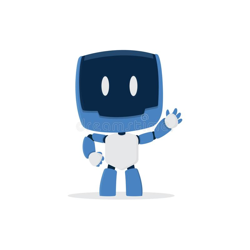 Cute robot cartoon character stock photo