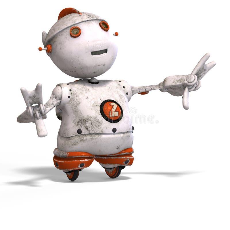 Download Cute Roboter With Lot Of Emotion Stock Illustration - Illustration of intelligence, alien: 7453394