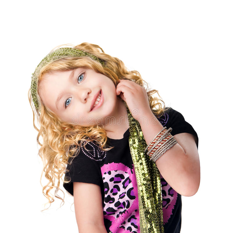 Cute rocker girl royalty free stock photo