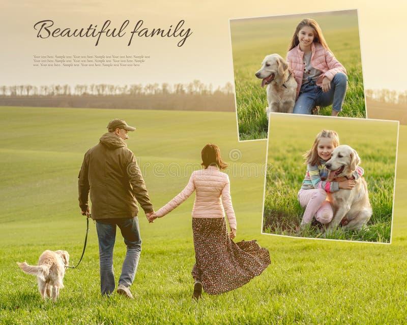 Cute rodzina cieszy się razem czasem obraz royalty free