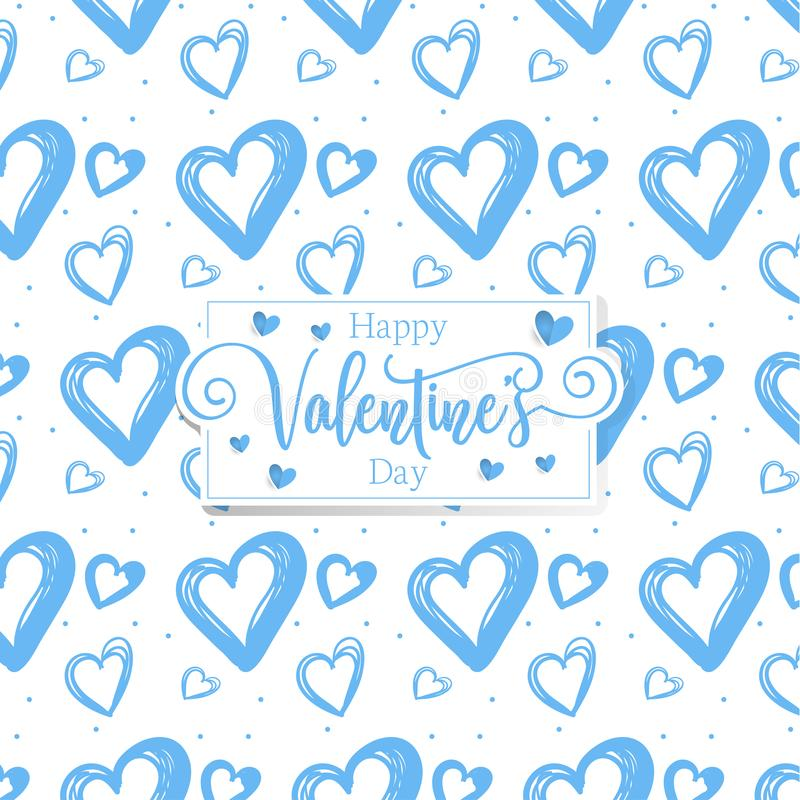 Cute romantic hearts valentine's day pattern background royalty free illustration