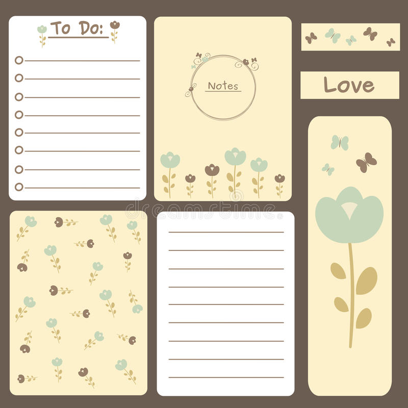 Cute Romantic Printable Journal Cards, Notes, To Do List