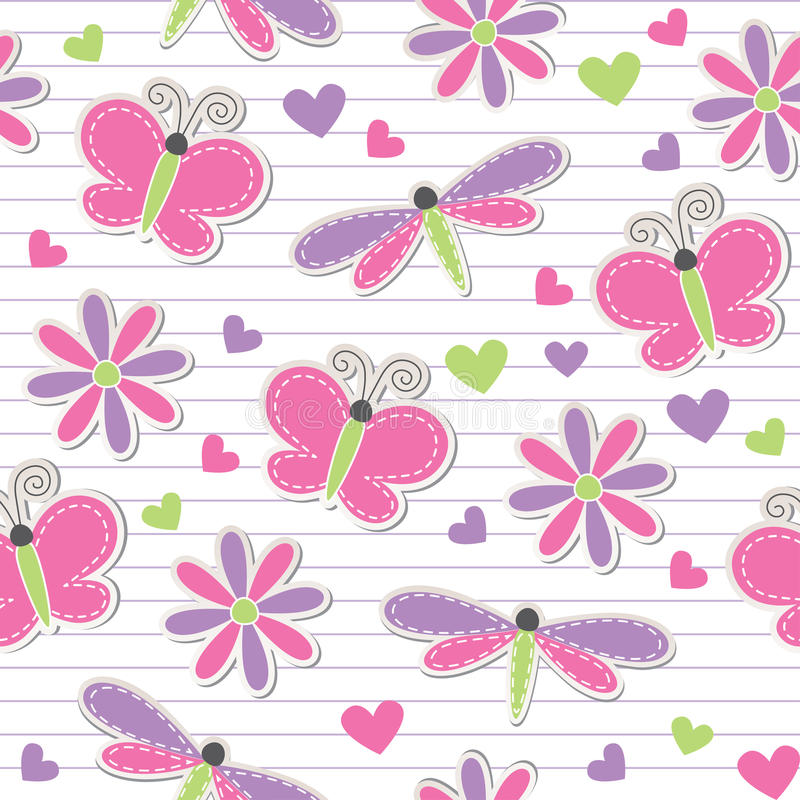 Download Cute Romantic Seamless Pattern Stock Photos - Image: 21823433