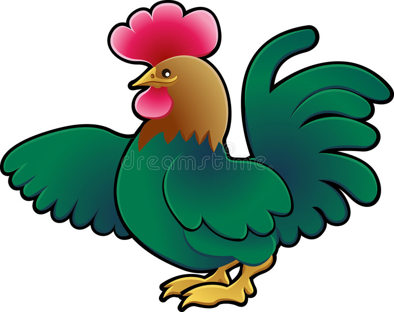 Download Cute Rooster Farm Animal Vector Stock Vector - Illustration: 4960635