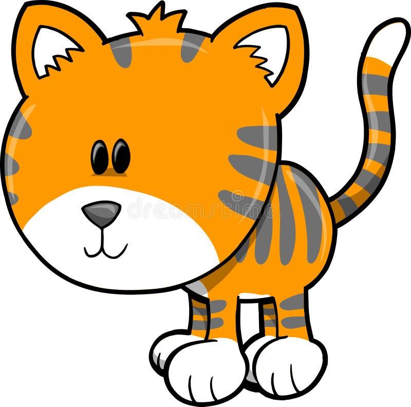 Cute Safari Tiger Vector Illustration