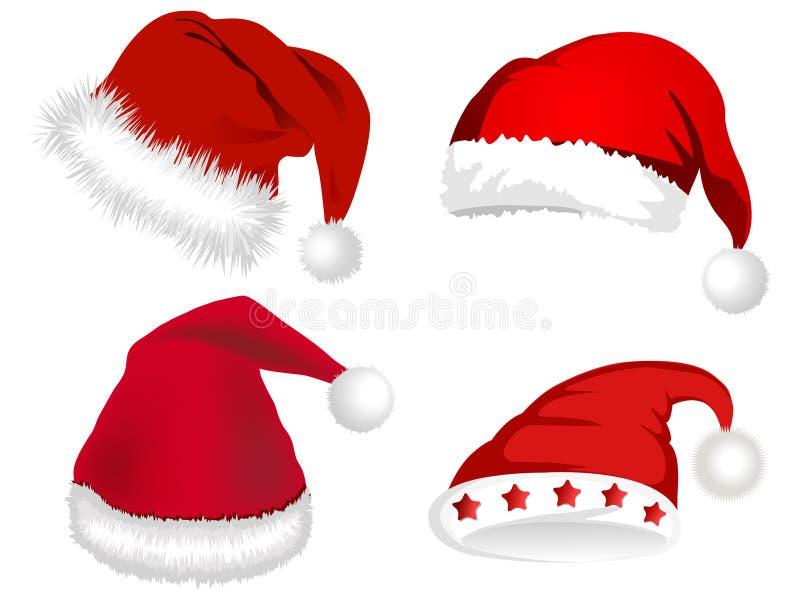 Download Cute Santa Claus hats stock vector. Image of dress, pattern - 3580487