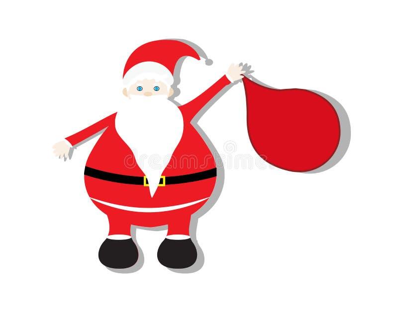 Cute santa claus. On white background stock illustration