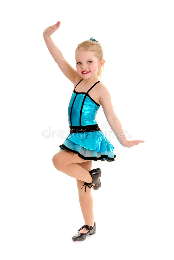 Cute and Sassy Child Tap Dancer in Costume stock photo