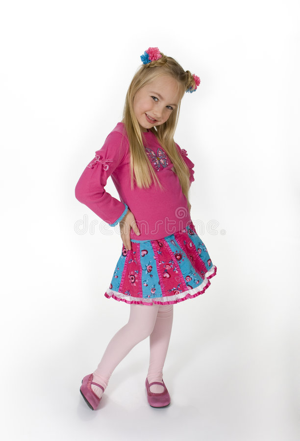 Cute Sassy Little Girl royalty free stock photography
