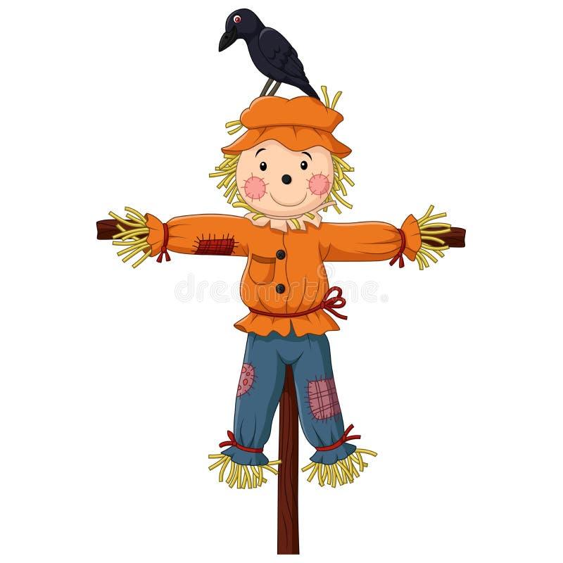 Cute Scarecrow cartoon royalty free illustration