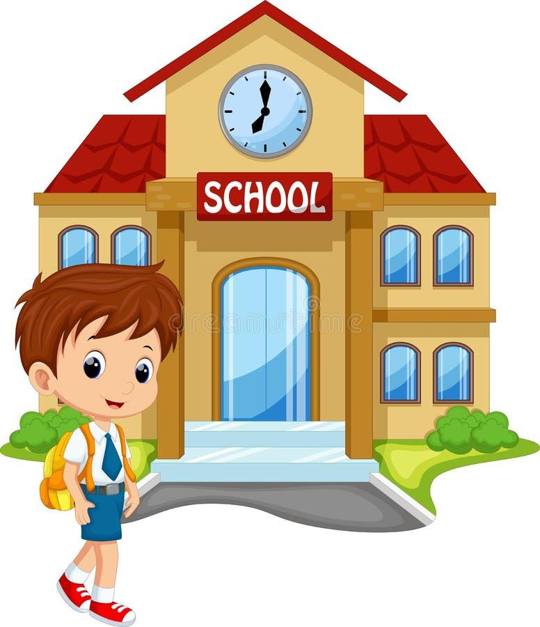 Cute Schoolboy Cartoon Stock Illustration Illustration Of