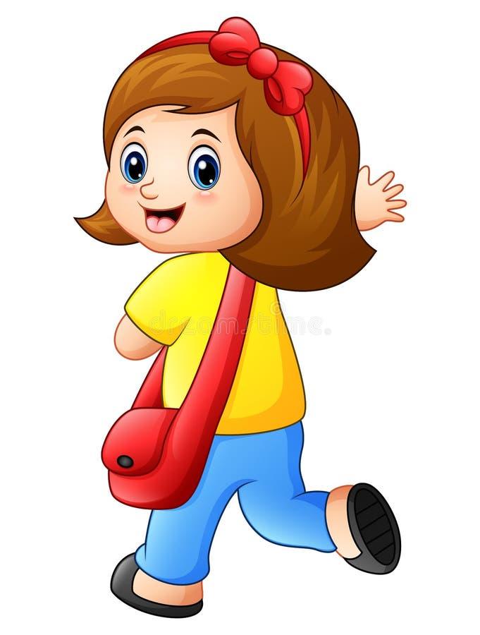Cute schoolgirl cartoon. Illustration of Cute schoolgirl cartoon stock illustration