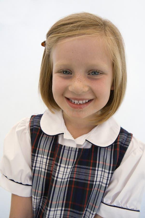 Cute Schoolgirl Smiling royalty free stock photo
