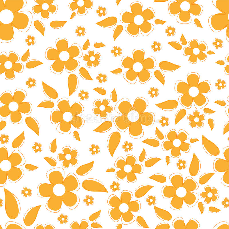 Download Cute Seamless Background With Flowers Stock Vector - Image: 16901942