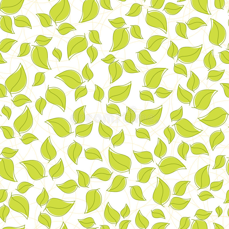 Download Cute Seamless Background With Leaves Stock Vector - Image: 16901944