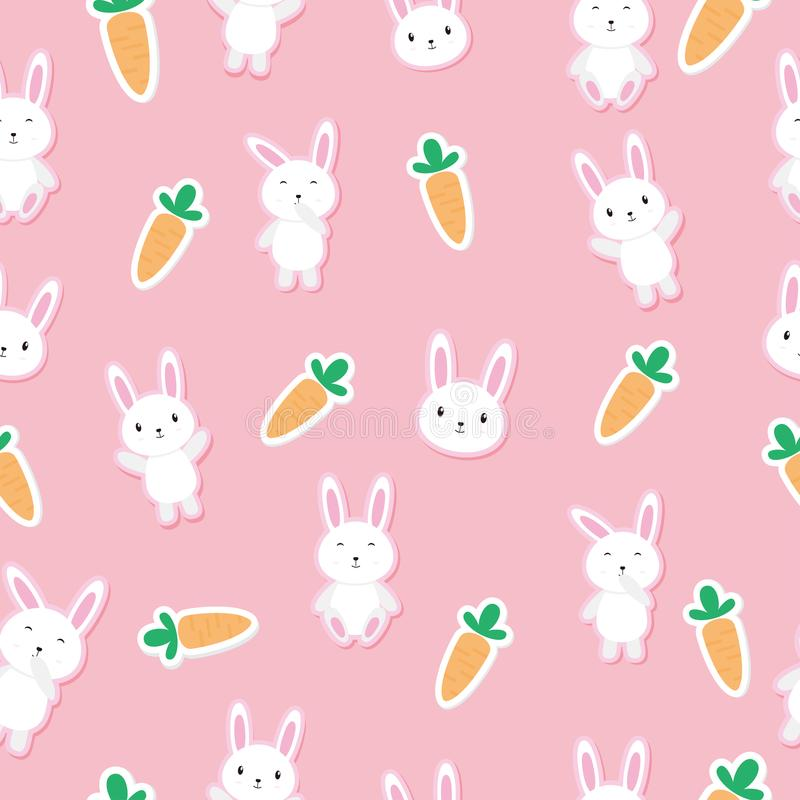 Free Cute Seamless Bunny Background Royalty Free Stock Photos - 106698948