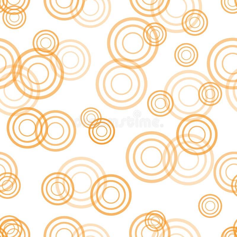 Cute seamless circle pattern. stock illustration