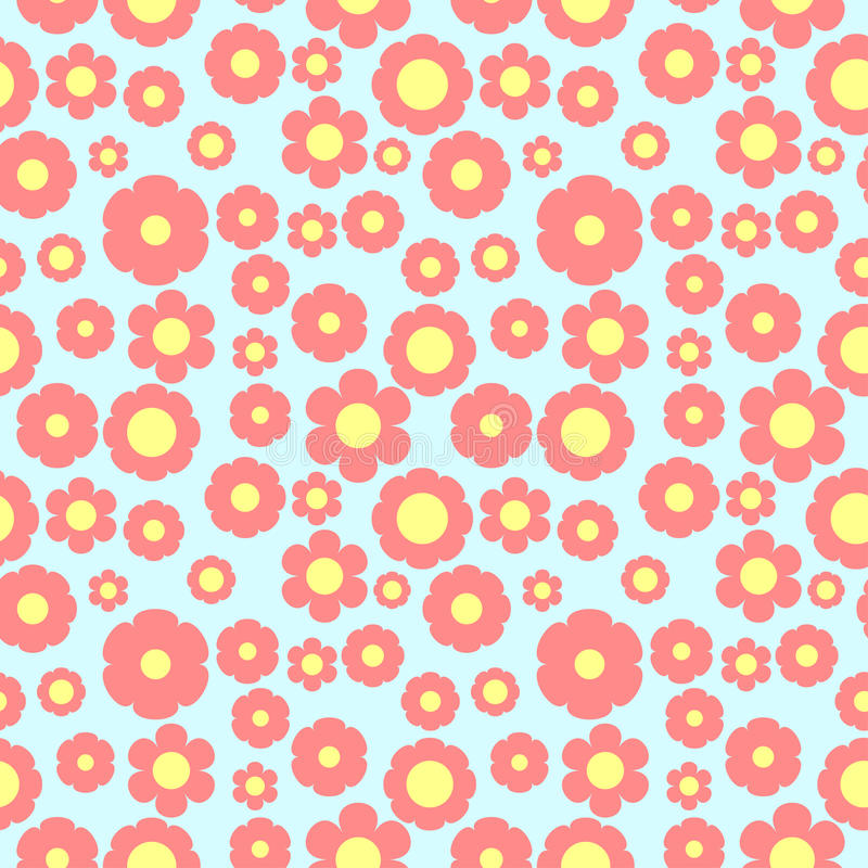 Cute seamless floral pattern flowers stock images