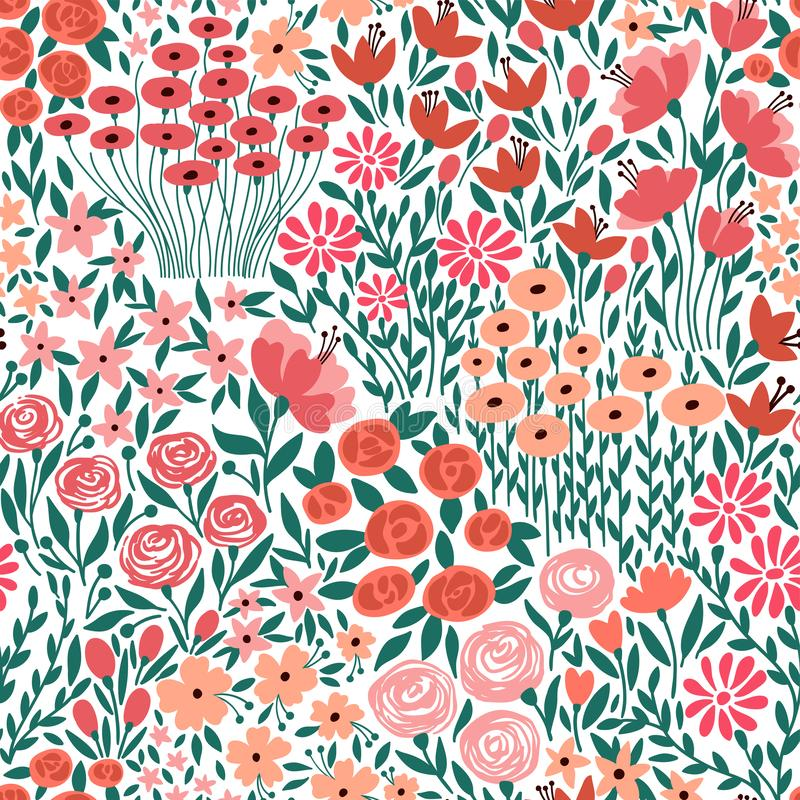 Cute seamless floral pattern with small flower royalty free illustration