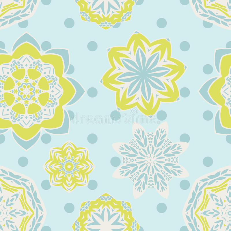 Free Cute Seamless Floral Vector Background Stock Images - 83964484