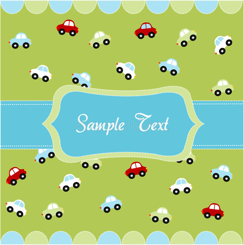 Cute seamless pattern with little cars stock illustration