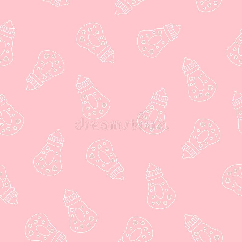Cute seamless pattern. Vector pink background for baby and kids design. Cute seamless pattern. Vector pink background for kids design vector illustration