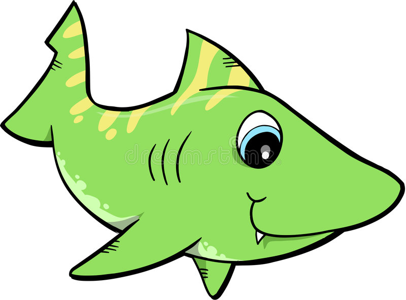 Download Cute Shark Vector stock vector. Image of colored, cute - 5726513