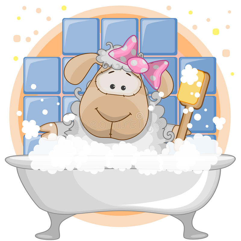 Cute Sheep royalty free illustration
