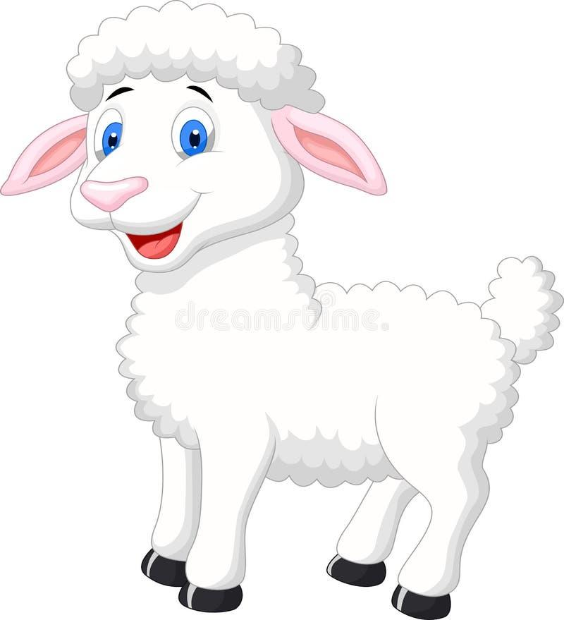 Cute sheep cartoon royalty free illustration