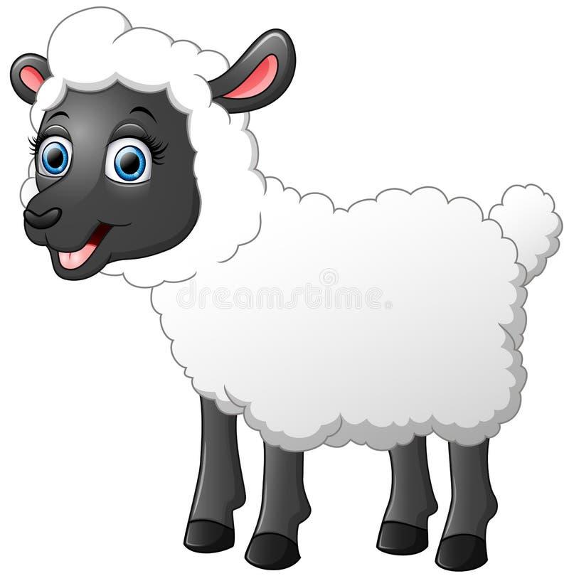 Cute sheep cartoon stock illustration