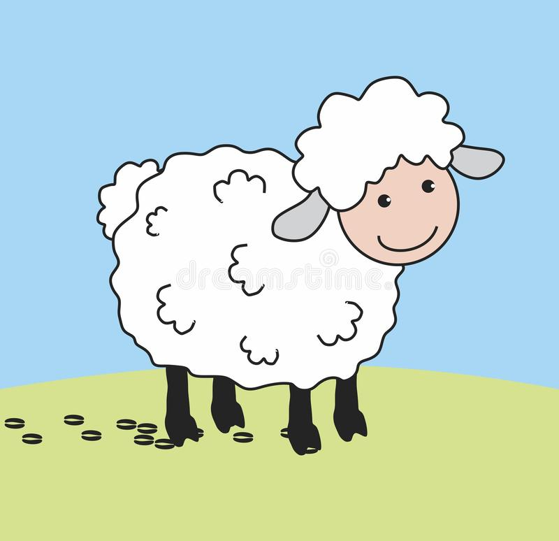Lamb. Cute Sheep Lamb Vector. Vector format stock illustration