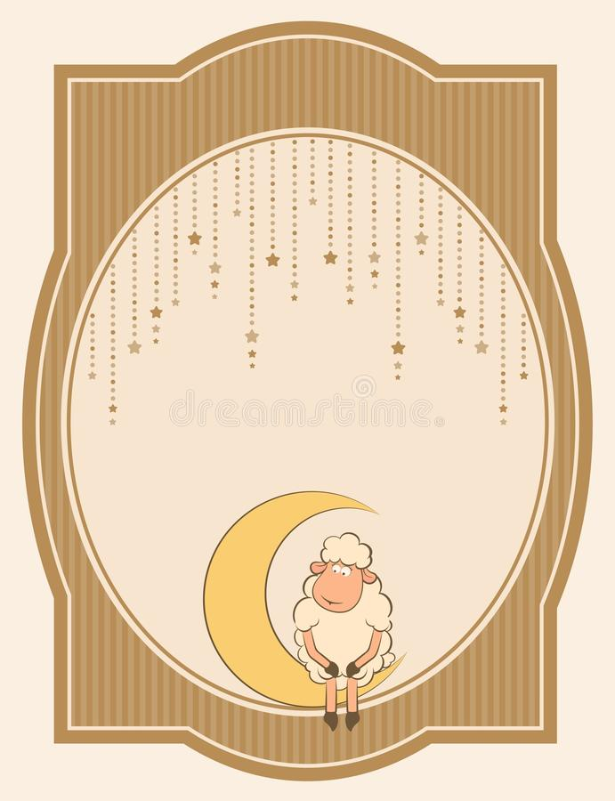Download Cute Sheep On Moon Royalty Free Stock Images - Image: 21033299