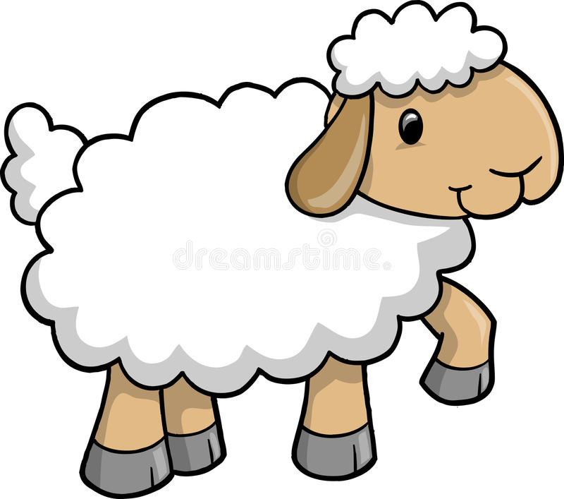 cute sheep vector stock vector illustration of adorable 9872217 rh dreamstime com sheep clipart cute sheep clipart free