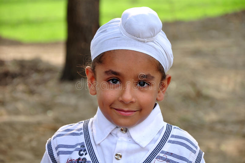 Cute sikh boy royalty free stock photos