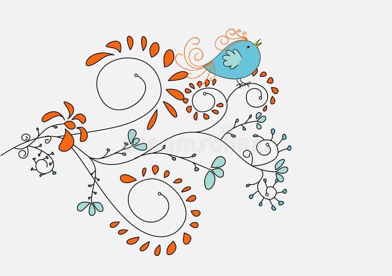 Download Cute singing bird stock vector. Image of character, garden - 13592974