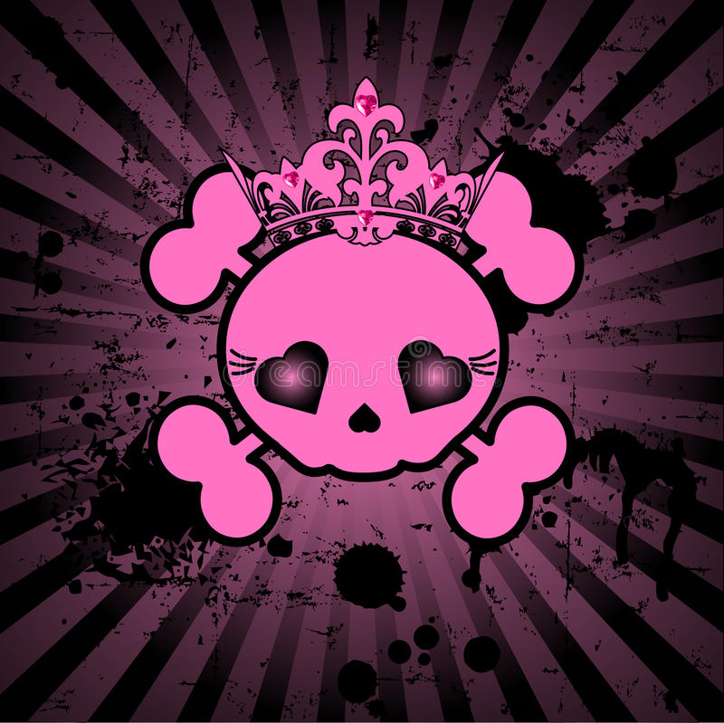 Cute Skull with crown vector illustration
