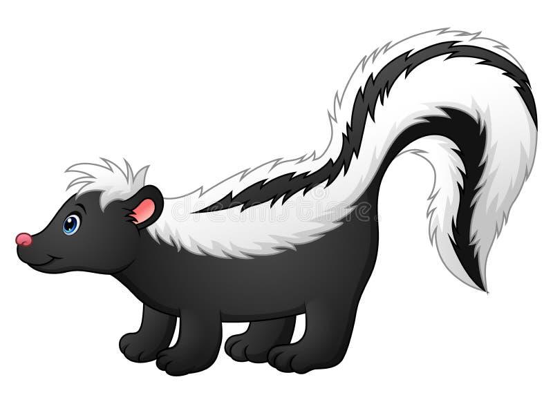 Cute skunk cartoon royalty free illustration