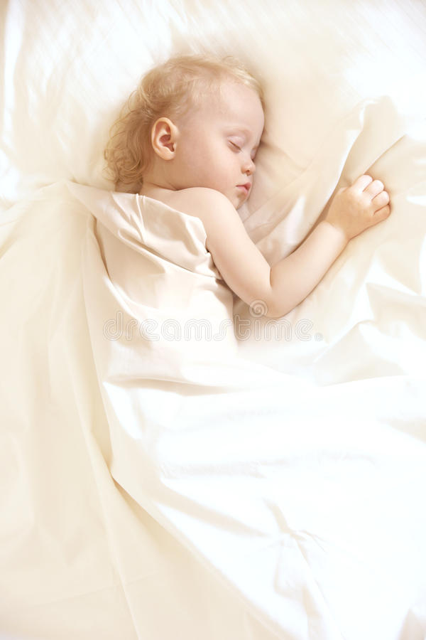 Download Cute sleep girl stock image. Image of little, cute, pallor - 12435947