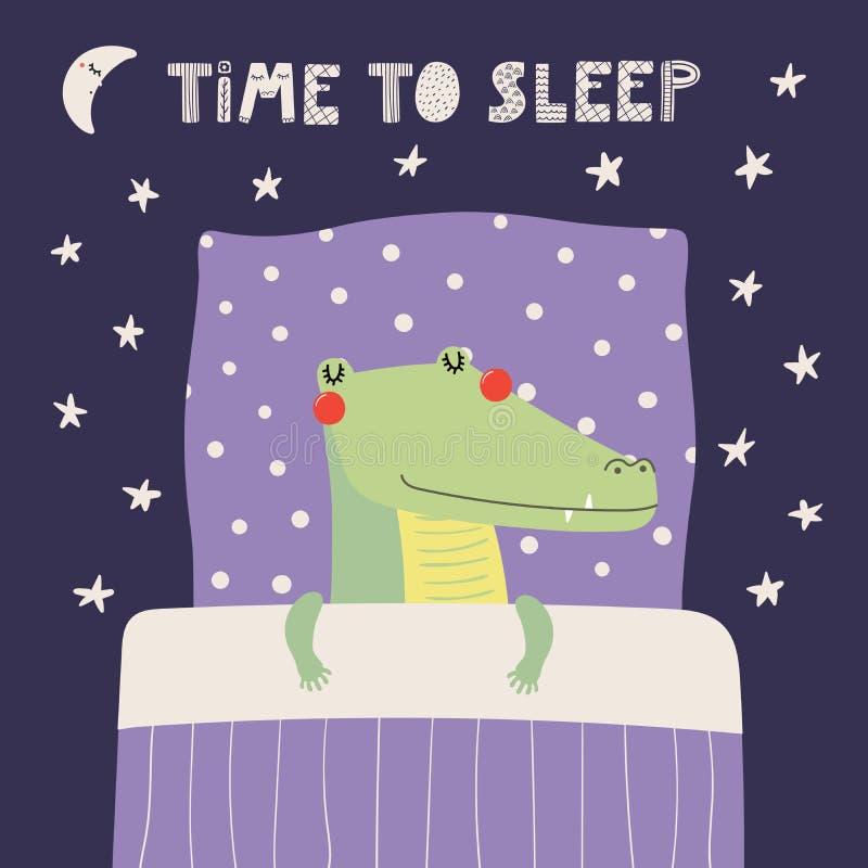 Free Cute Sleeping Crocodile Stock Photography - 113646412