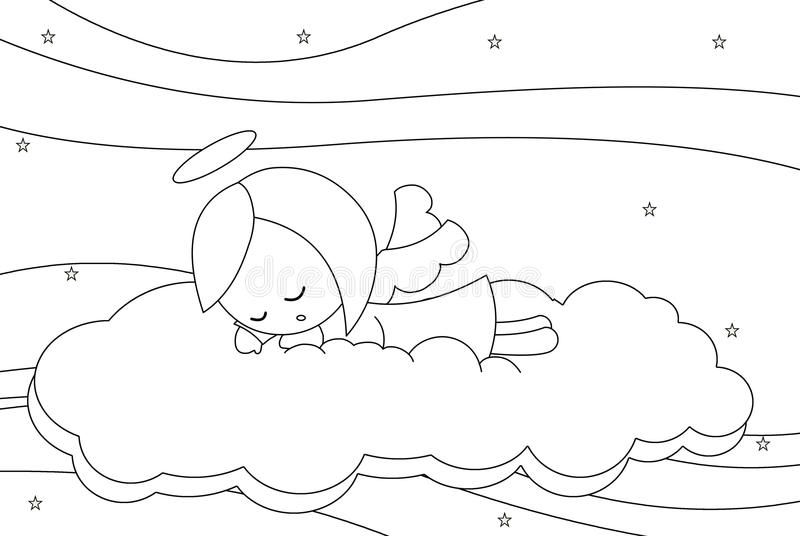 Download Cute Sleeping Little Angel Girl Royalty Free Stock Image - Image: 13910586