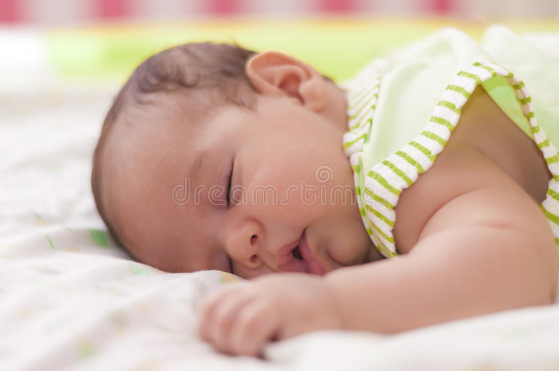 Cute Baby Asleep royalty free stock photo