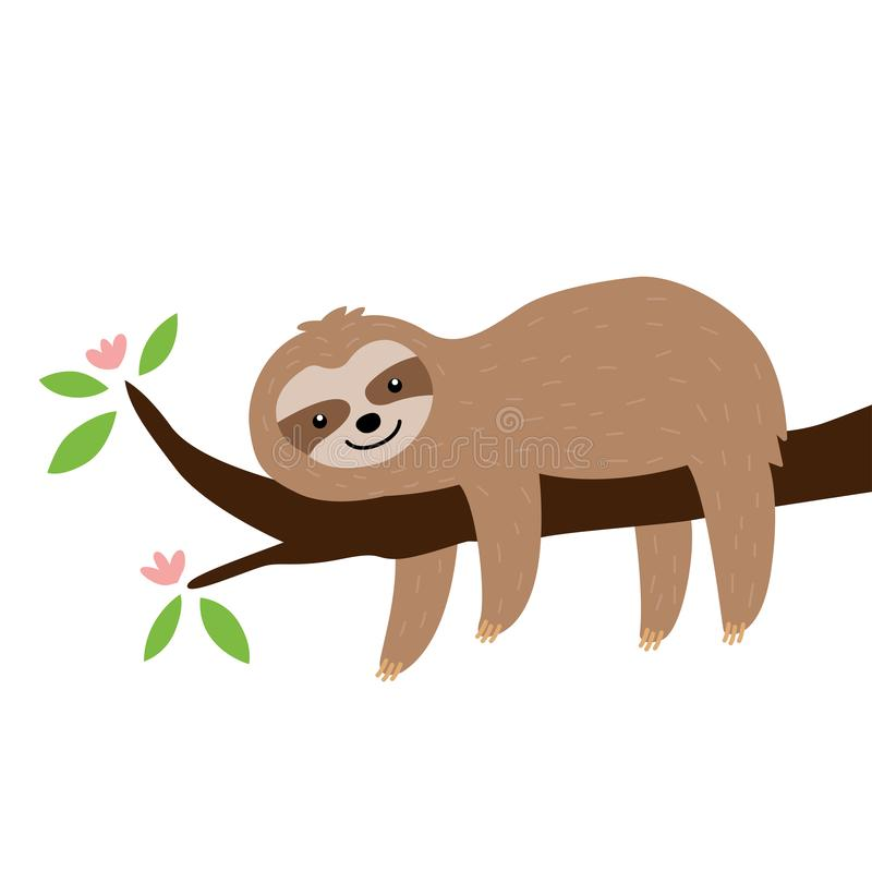 Sloth Isolated Stock Illustrations – 3,071 Sloth Isolated ...