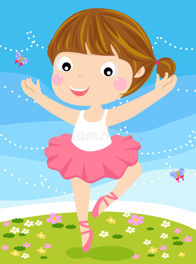 Download Cute small ballerina. stock vector. Image of beauty, green - 20866927
