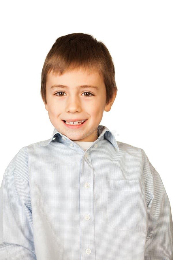 Cute smiling boy portrait stock photography