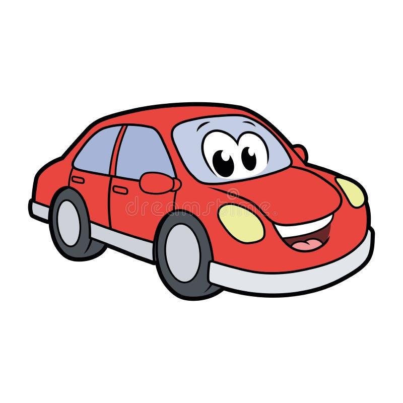 Cute smiling car royalty free illustration