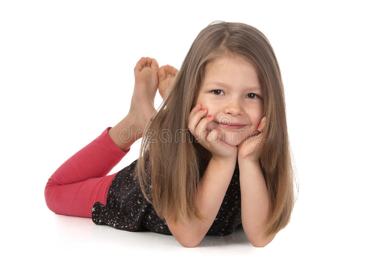 Cute smiling girl stock photos