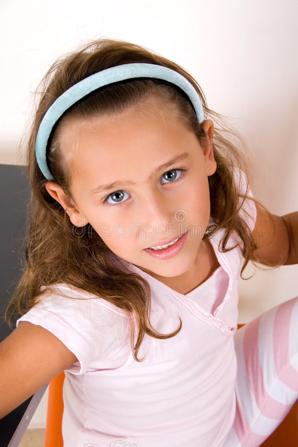 Free Cute Smiling Girl Looking At Camera Royalty Free Stock Image - 7419346