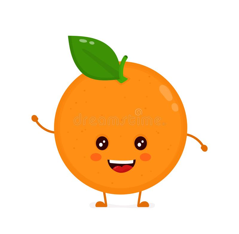 Free Cute Smiling Happy Orange. Vector Flat Royalty Free Stock Photography - 103624877