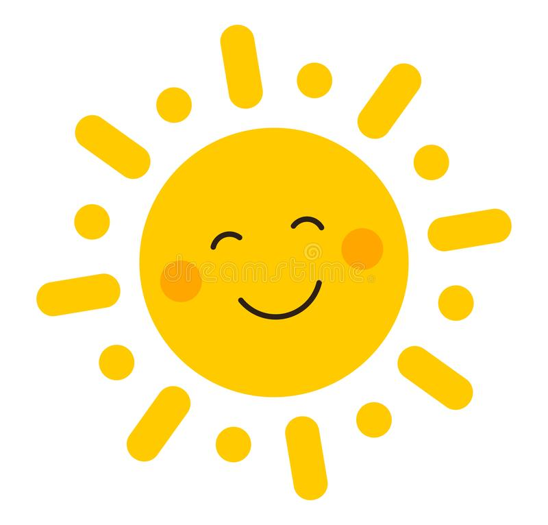 Free Cute Smiling Sun Icon Stock Images - 149624044